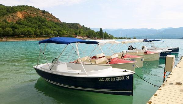 Location de bateaux électriques Lac de Sainte-Croix-du-Verdon - Lac-Loc